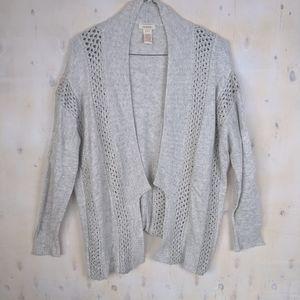Sundance gray cardigan crochet L